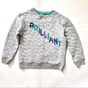 Cat & Jack Grey Sweatshirt Brilliant Star Quilting